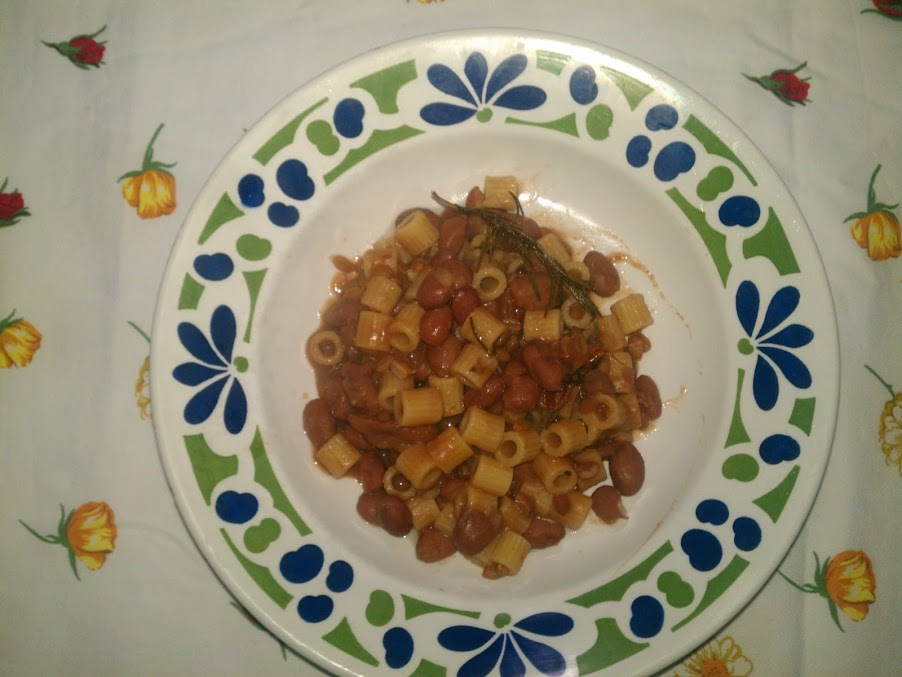 Ricetta pasta e fagioli borlotti