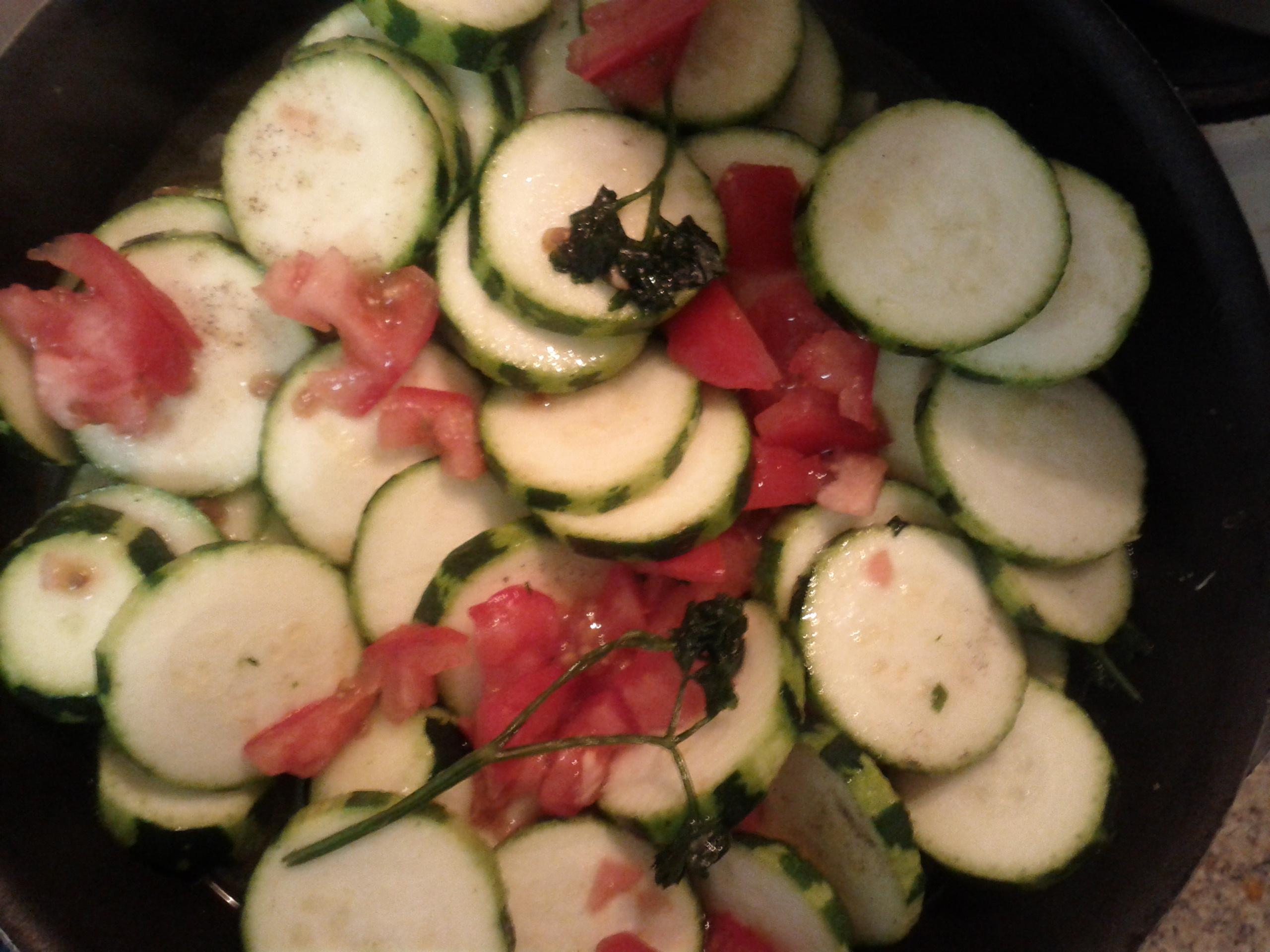 Zucchine trifolate con pancetta