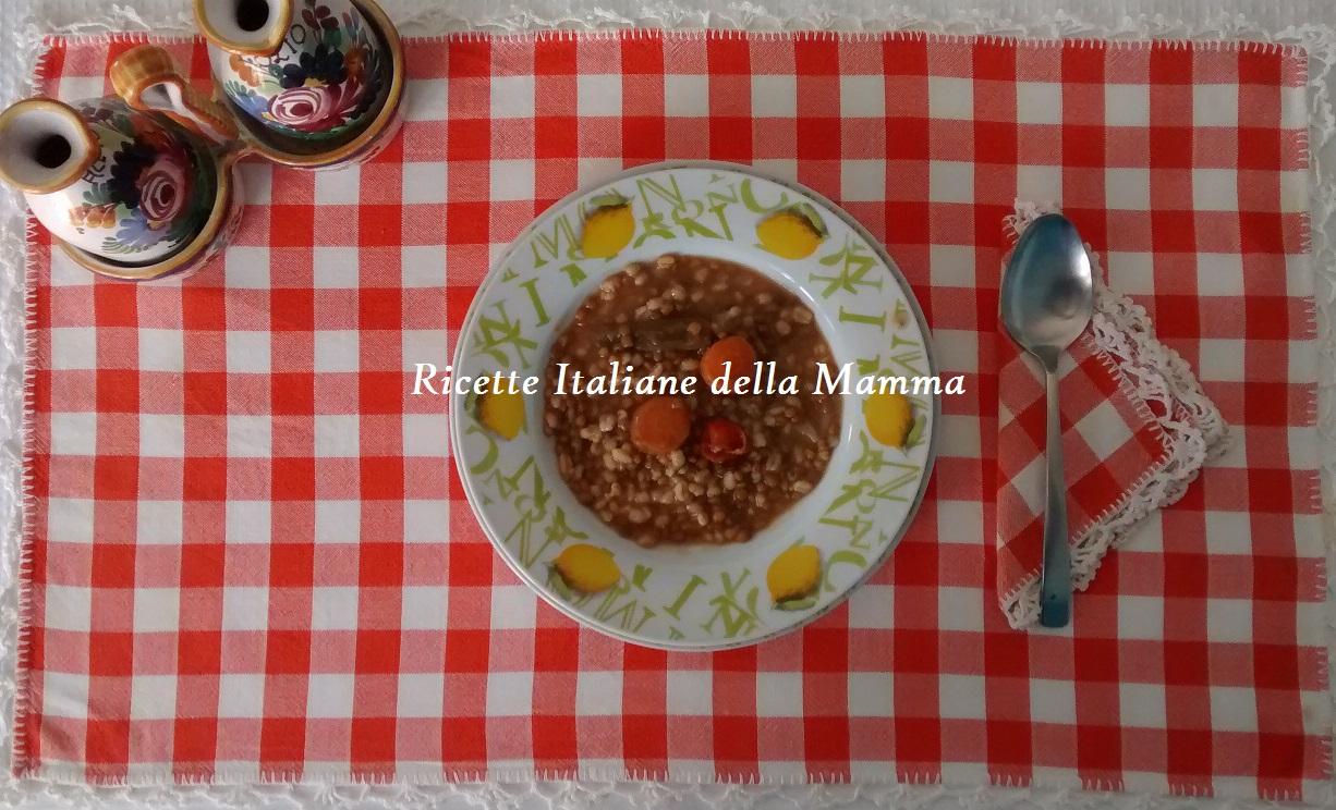 Zuppa di Lentichhie e Orzo Perlato