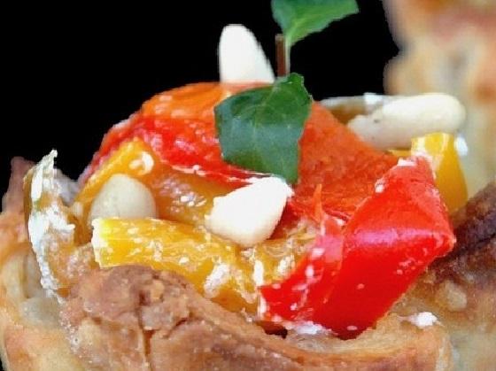 Ricetta cestini di parmigiano con verdure