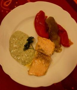 Salmone e peperoni