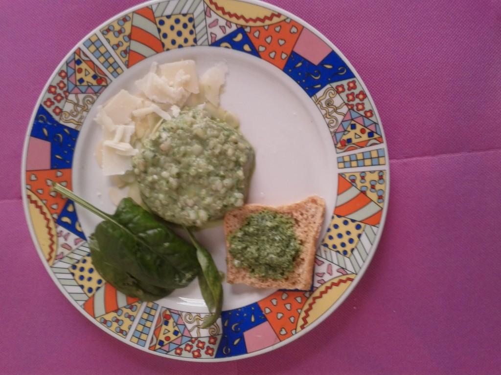 Ricetta grano saraceno alla crema di spinaci