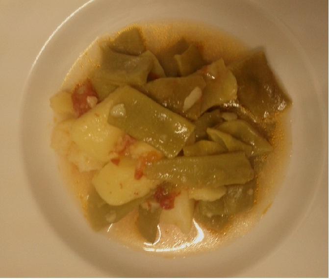 Ricetta zuppa fagiolini e patate