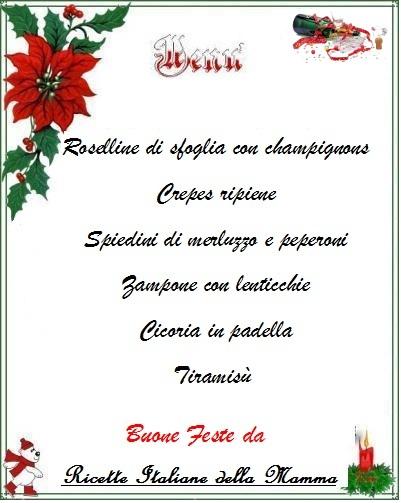 menu cenone vigilia capodanno