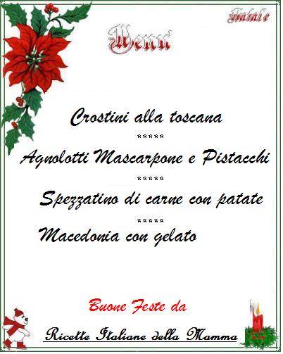 Ricette Menu di Natale 1