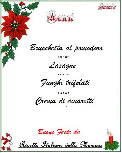 Menu di Natale 2