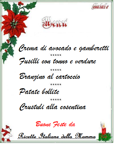 Menu Vigilia di Natale 4