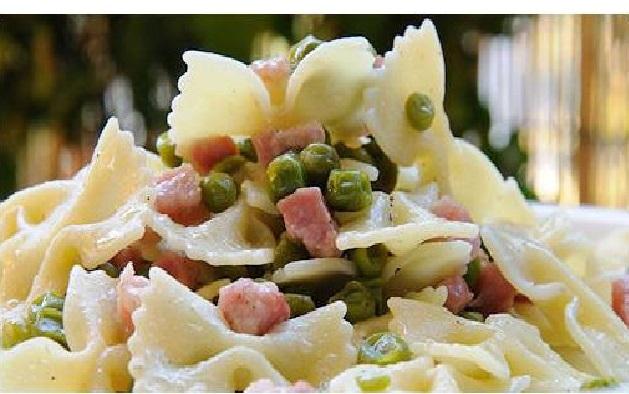 Ricetta pasta piselli e pancetta