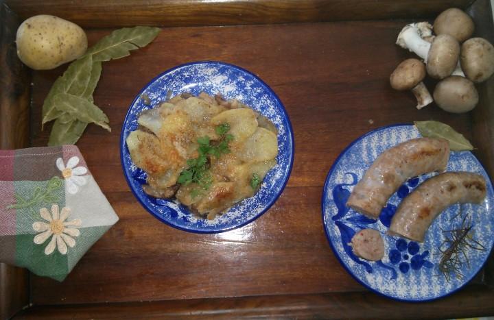 Ricetta gratin di funghi e patate