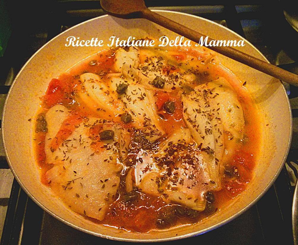 Ricetta Filetti di platessa alla pizzaiola