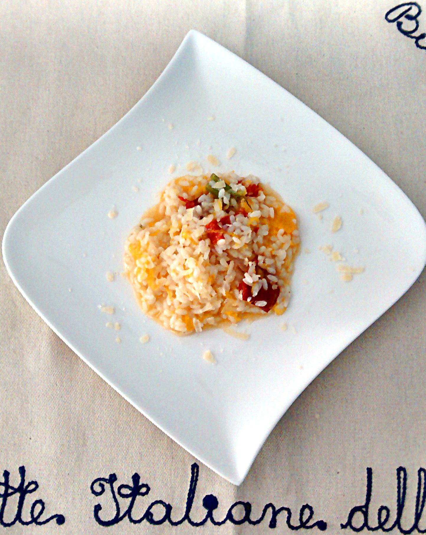 risotto zucca e pomodori secchi