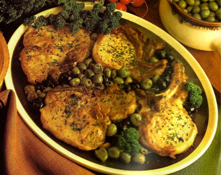 Ricetta Costolette di maiale con olive