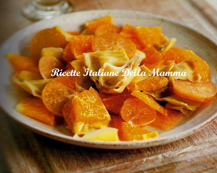 Insalata clementine di e carciofi