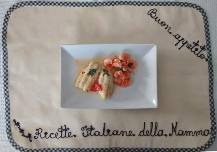 Ricetta Spatola e gamberi