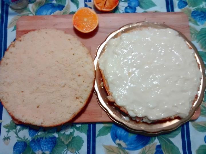 Ricetta Torta alla arancia con crema