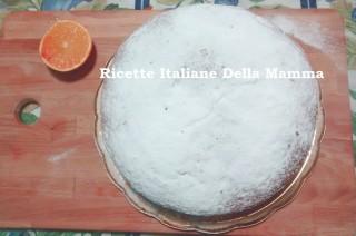Torta alla arancia con crema
