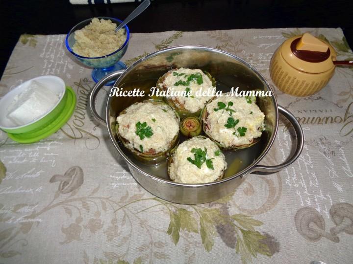 Ricetta Carciofi Quinoa e ricotta