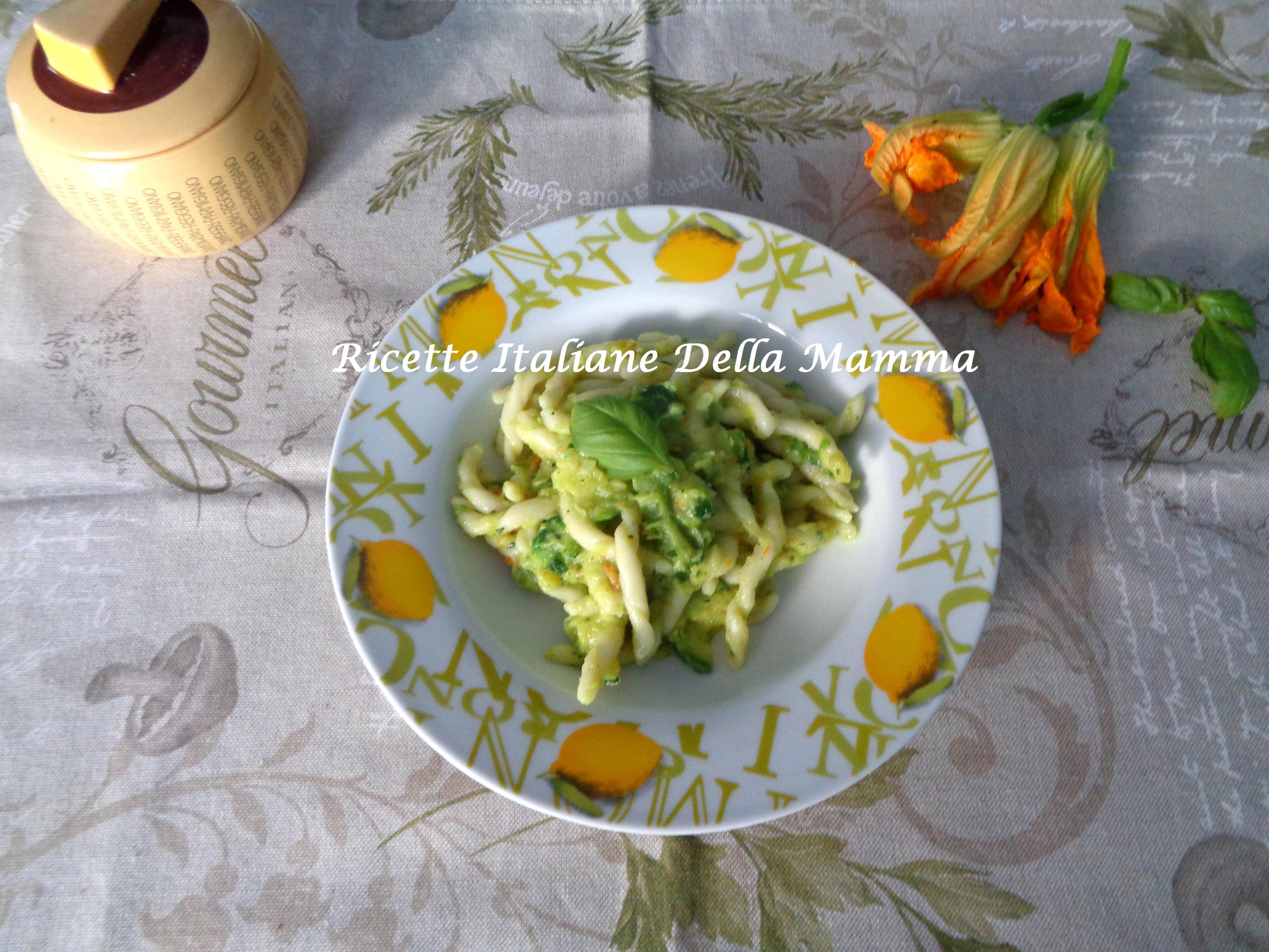 Ricetta strozzapreti e zucchine ricette italiane della mamma for Ricette italiane