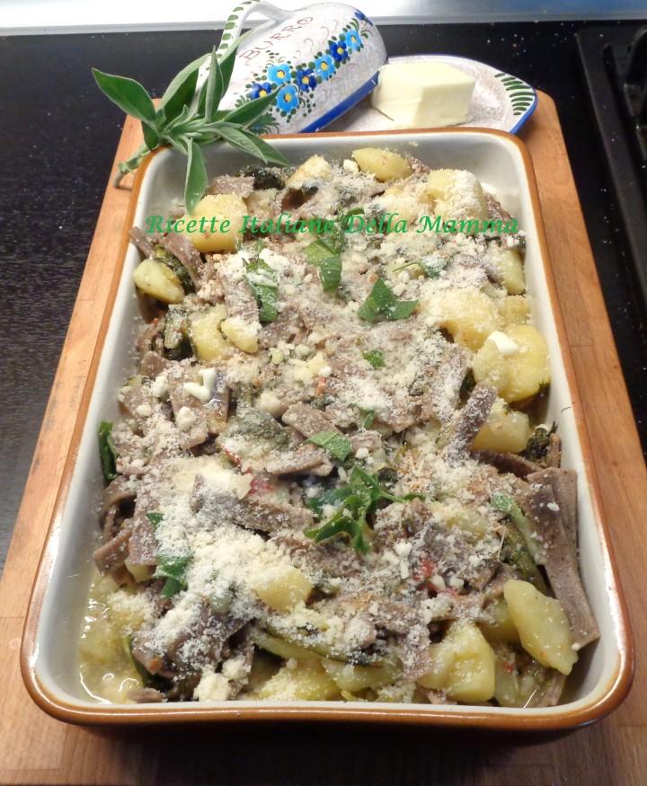 Ricetta Pizzoccheri bietole e patate