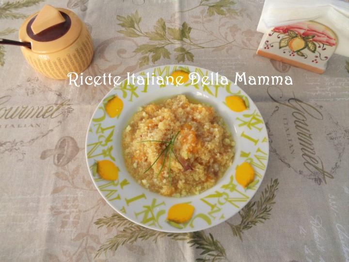 Quinoa con zucca gialla
