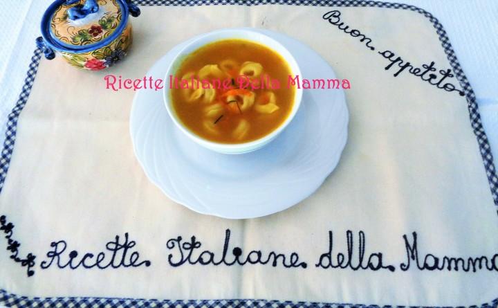 Ricetta Brodo vegetale con tortellini
