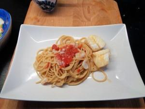 Spaghetti integrali al pesce