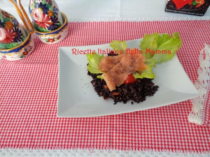 Ricetta Salmone con riso Venere