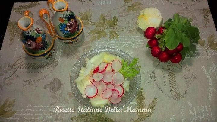 Ricetta Insalata ravanelli e finocchi