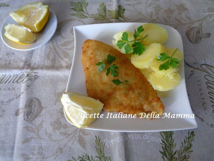 Cotolette di pesce e patate bollite
