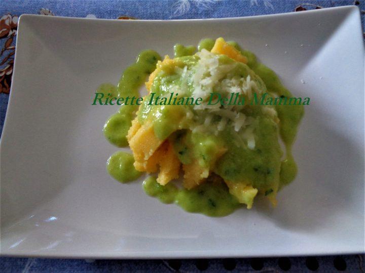Polenta al pesto di zucchine