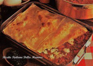 Lasagne salsiccia e ricotta